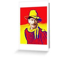 John Wayne in Rio Grande Greeting Card