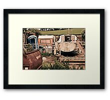 Tractors & Bubbly Framed Print