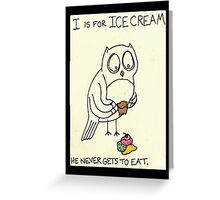 I is for IceCream Greeting Card