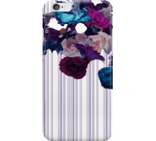 Floral Cutouts and Stripes Print Design iPhone Case/Skin