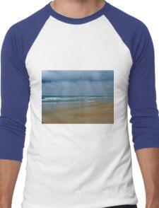 Cloudy Day At The Beach Men's Baseball ¾ T-Shirt