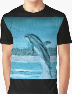 Dolphin Mural Graphic T-Shirt