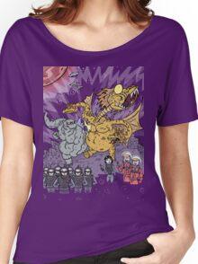 Big Godzilla Battle 1 Women's Relaxed Fit T-Shirt