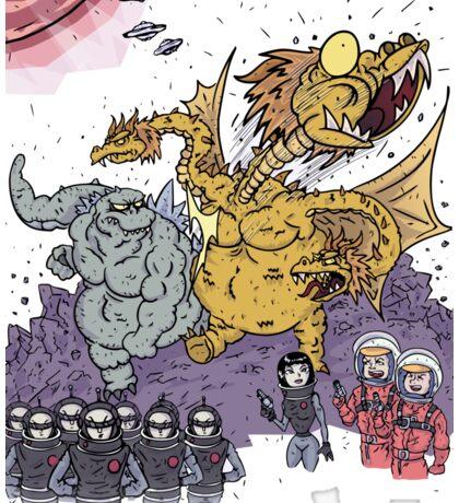 Big Godzilla Battle 1 Sticker