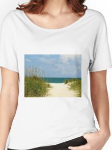 Peace At The Beach Women's Relaxed Fit T-Shirt