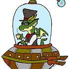 Steampunk Dragon in Spaaaaace! by ZombieRodent