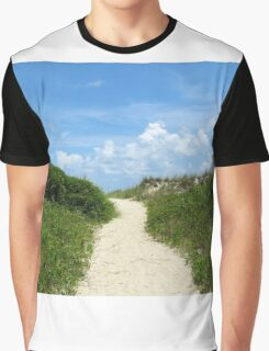 Pathway To The Beach Graphic T-Shirt