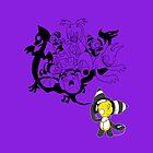 Music Demon Purple iPad Case (Black Outline) by NeroStreet