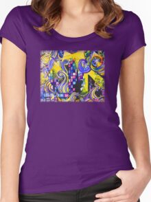 Pretty Lights 2 - Design 1 Women's Fitted Scoop T-Shirt