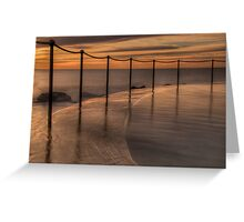 Bronte Beach rock pool Greeting Card