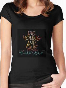 Brand New Lyrics Women's Fitted Scoop T-Shirt
