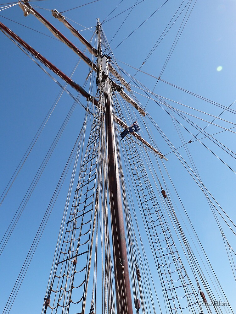 Reaching to the Sky! 'Europa's' mast. one of three. by Rita Blom