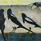 """Morning magpies"" by Richard Robinson"