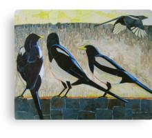 """""""Morning magpies"""" Canvas Print"""