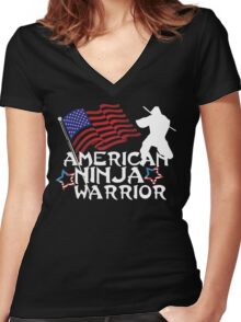 American Ninja Warrior T-Shirt Women's Fitted V-Neck T-Shirt