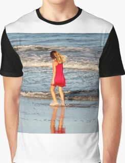 Little Girl On The Beach Graphic T-Shirt