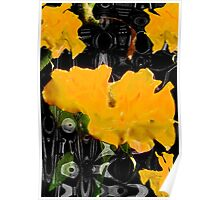 Yellow Flowers in Abstract Poster
