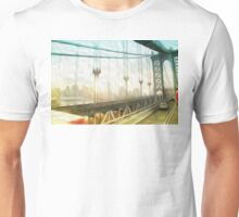 manhattan bridge morning Unisex T-Shirt