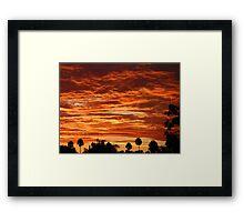 SoCal Sunset 9-1-13 Framed Print