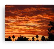 SoCal Sunset 9-1-13 Canvas Print