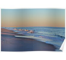 Beautiful Ocean In North Carolina Poster