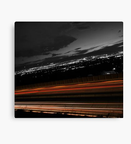 Freeway Long Exposure Canvas Print