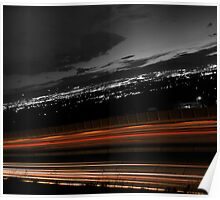 Freeway Long Exposure Poster