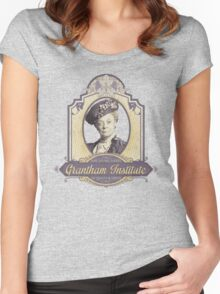Downton Abbey Inspired - Lady Violet - Grantham Institute - Lady Violet Finishing School - Dowager's Etiquette Teachings Women's Fitted Scoop T-Shirt
