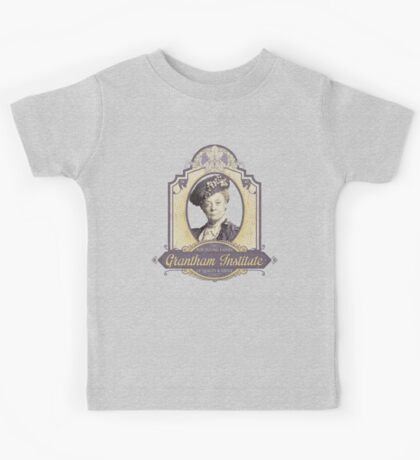 Downton Abbey Inspired - Lady Violet - Grantham Institute - Lady Violet Finishing School - Dowager's Etiquette Teachings Kids Tee
