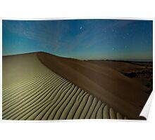 Moonlight Dunes Poster