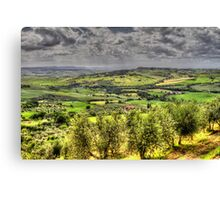 Tuscany - Looking towards Pienza Canvas Print