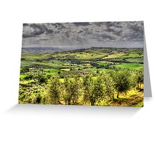 Tuscany - Looking towards Pienza Greeting Card