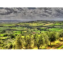 Tuscany - Looking towards Pienza Photographic Print