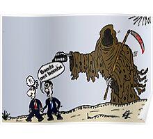 Bond trader options cartoon Poster