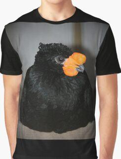 Black And Orange Graphic T-Shirt