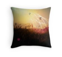 Through the Field of Dreams Throw Pillow