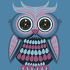 Star Eye Owl - Blue Purple 3 by Adamzworld