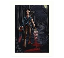 Evil Dead Ash Art Print