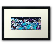 Twins in space Framed Print