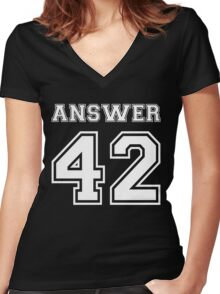 42 - Answer Women's Fitted V-Neck T-Shirt