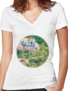 Filly Dashie Women's Fitted V-Neck T-Shirt
