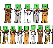 Cats in Santa hats. by KateTaylor