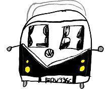 VW Camper Kids Black by splashgti