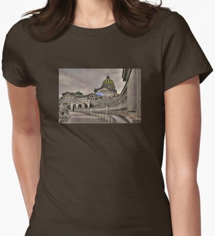 Pennsylvania State Capital Womens Fitted T-Shirt
