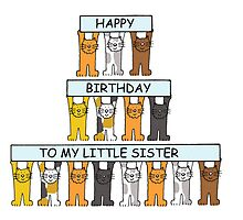 Little sister birthday with cats. by KateTaylor