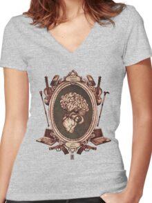 """serie ornate : """"sherlock"""" Women's Fitted V-Neck T-Shirt"""