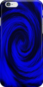 Blue Wormhole Abstract by 319media