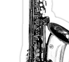 saxophone abstract Sticker