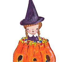 Witch in Pumpkin by fluffymafi