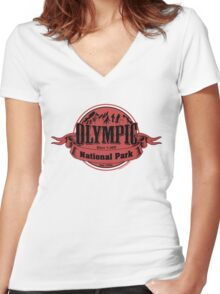Olympic National Park, Washington Women's Fitted V-Neck T-Shirt